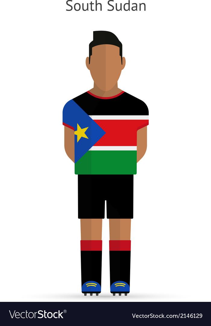 South sudan football player soccer uniform vector | Price: 1 Credit (USD $1)
