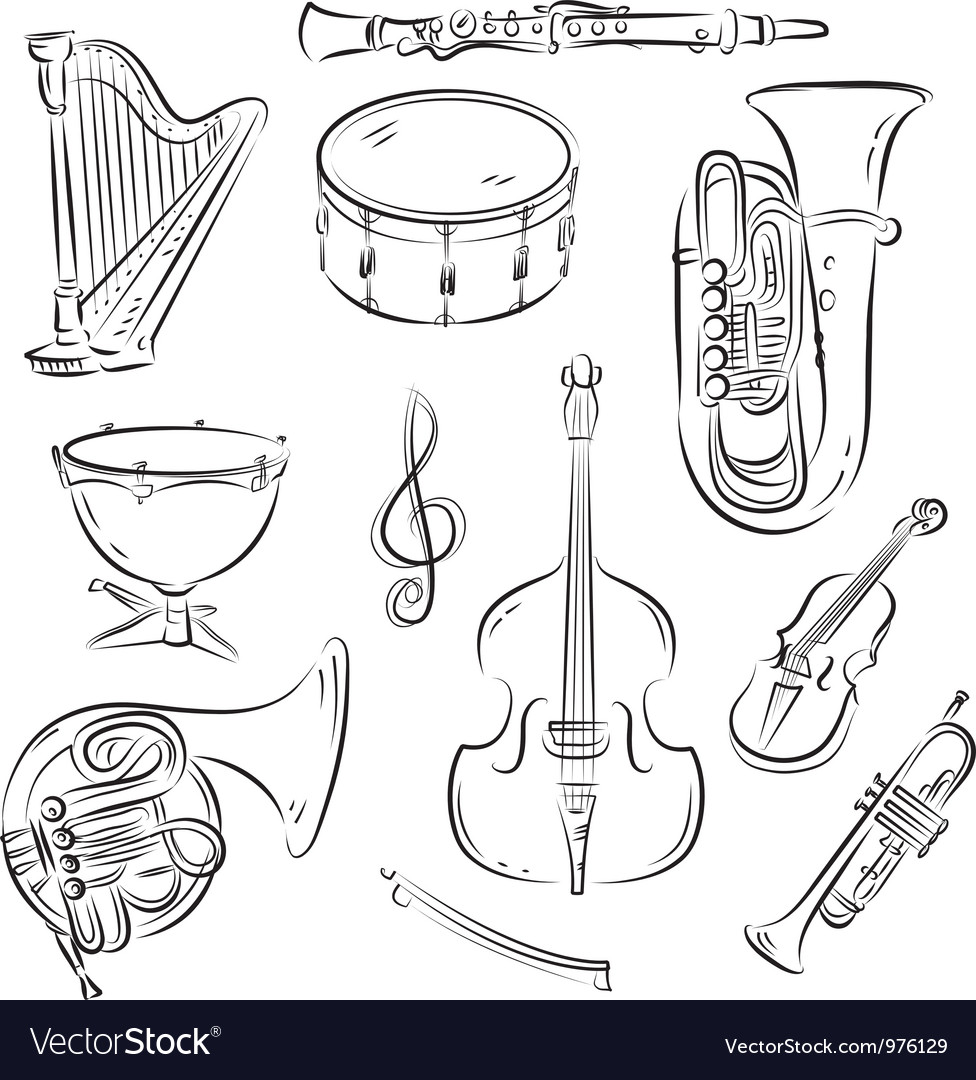 Symphony orchestra set vector | Price: 1 Credit (USD $1)