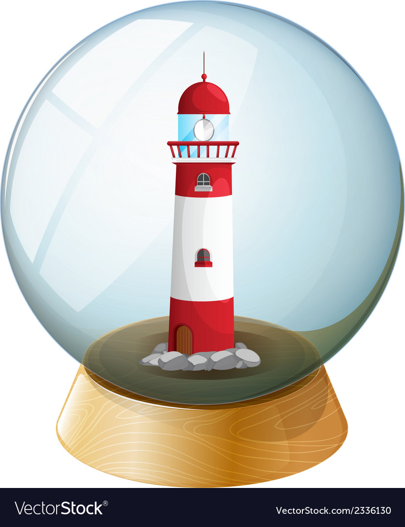 A crystal ball with a tower inside vector | Price: 1 Credit (USD $1)