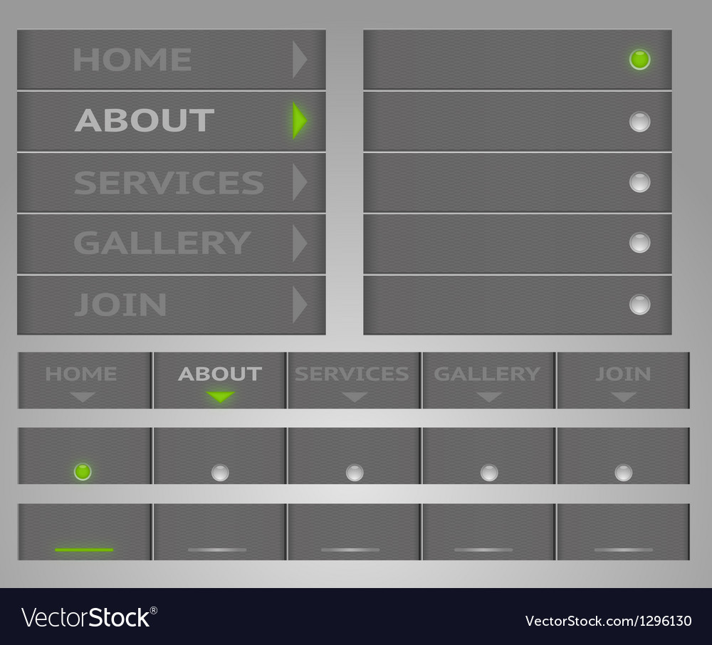 Carbon menu vector | Price: 1 Credit (USD $1)