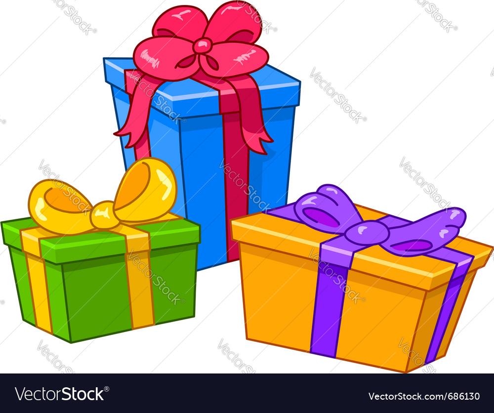 Cartoon gifts vector | Price: 1 Credit (USD $1)