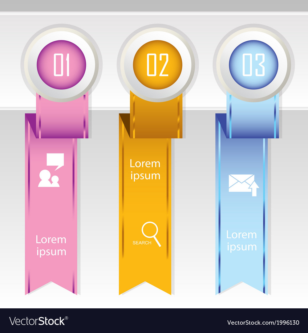 Colorful banner ribbon element for infographic vector   Price: 1 Credit (USD $1)