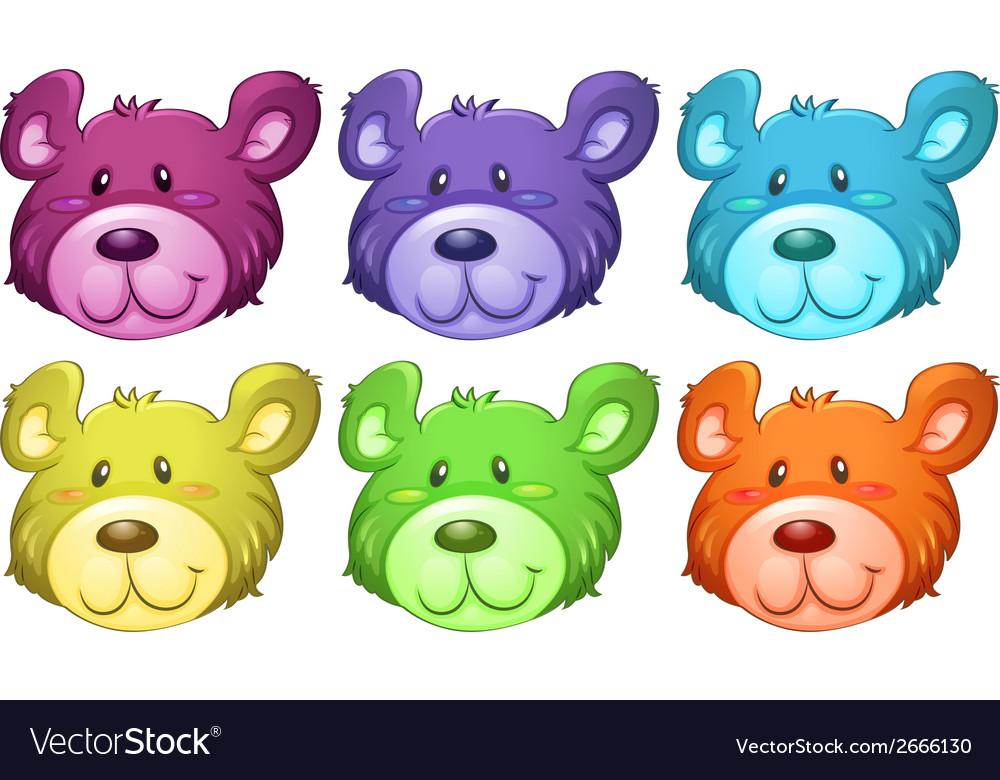 Cute bear heads vector | Price: 1 Credit (USD $1)