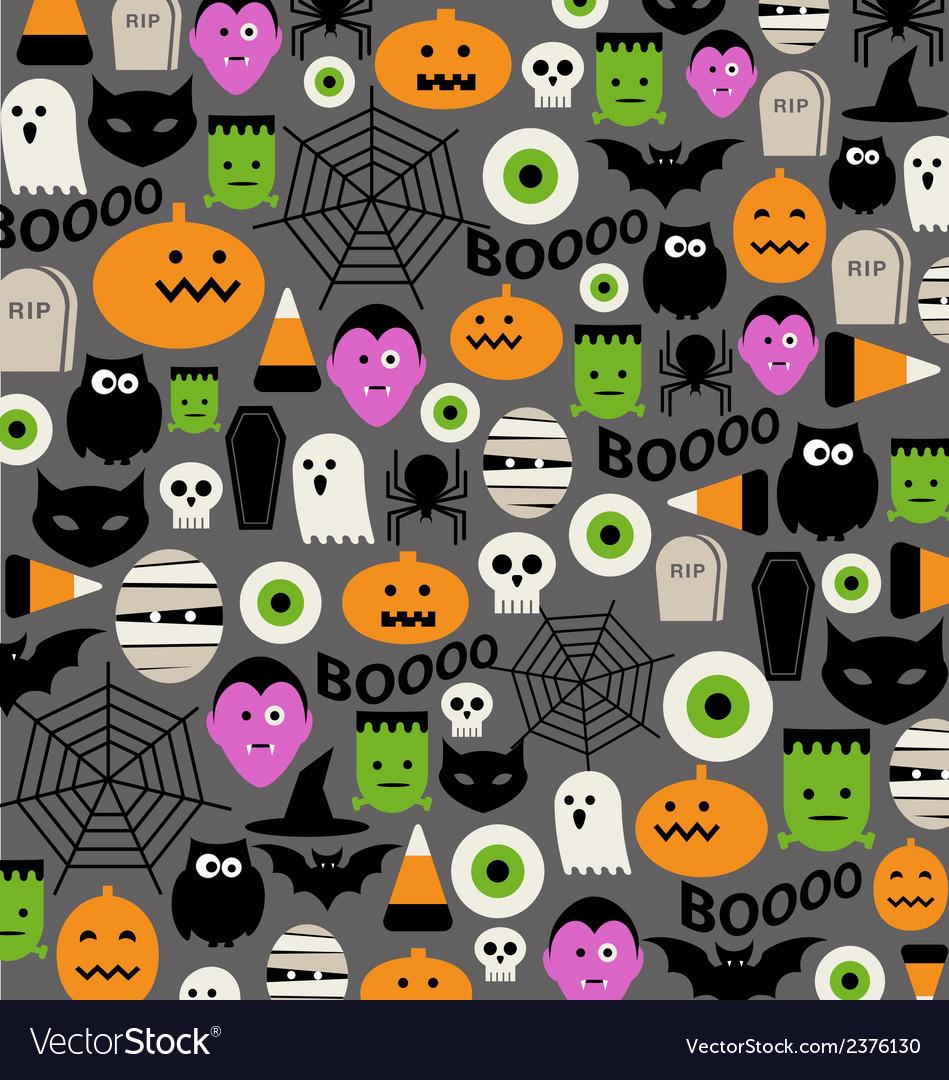Cute halloween icon pattern vector | Price: 1 Credit (USD $1)