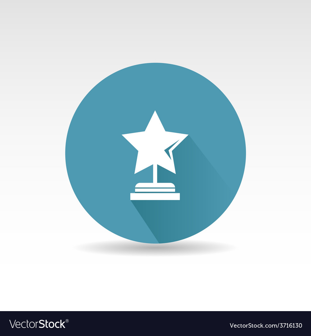 Flat star first place design vector | Price: 1 Credit (USD $1)