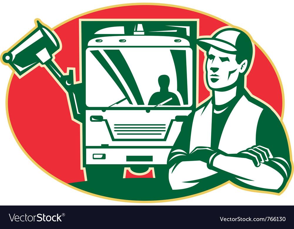 Garbage man collector vector | Price: 1 Credit (USD $1)