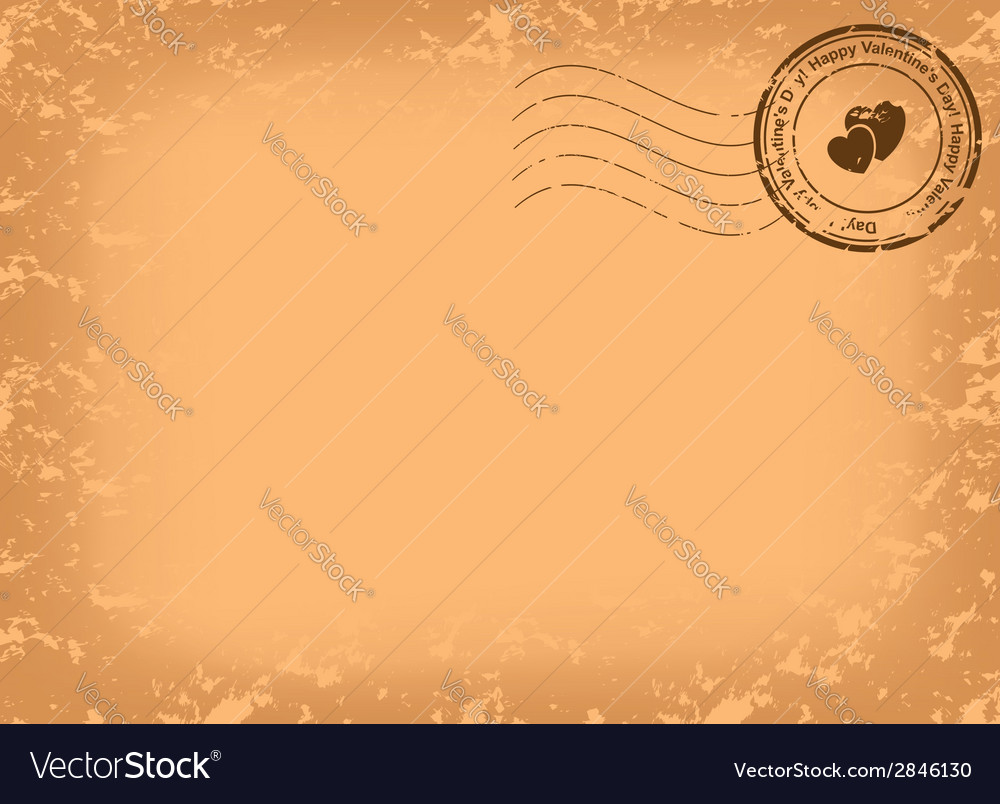 Grungy postcard for valentine day vector | Price: 1 Credit (USD $1)