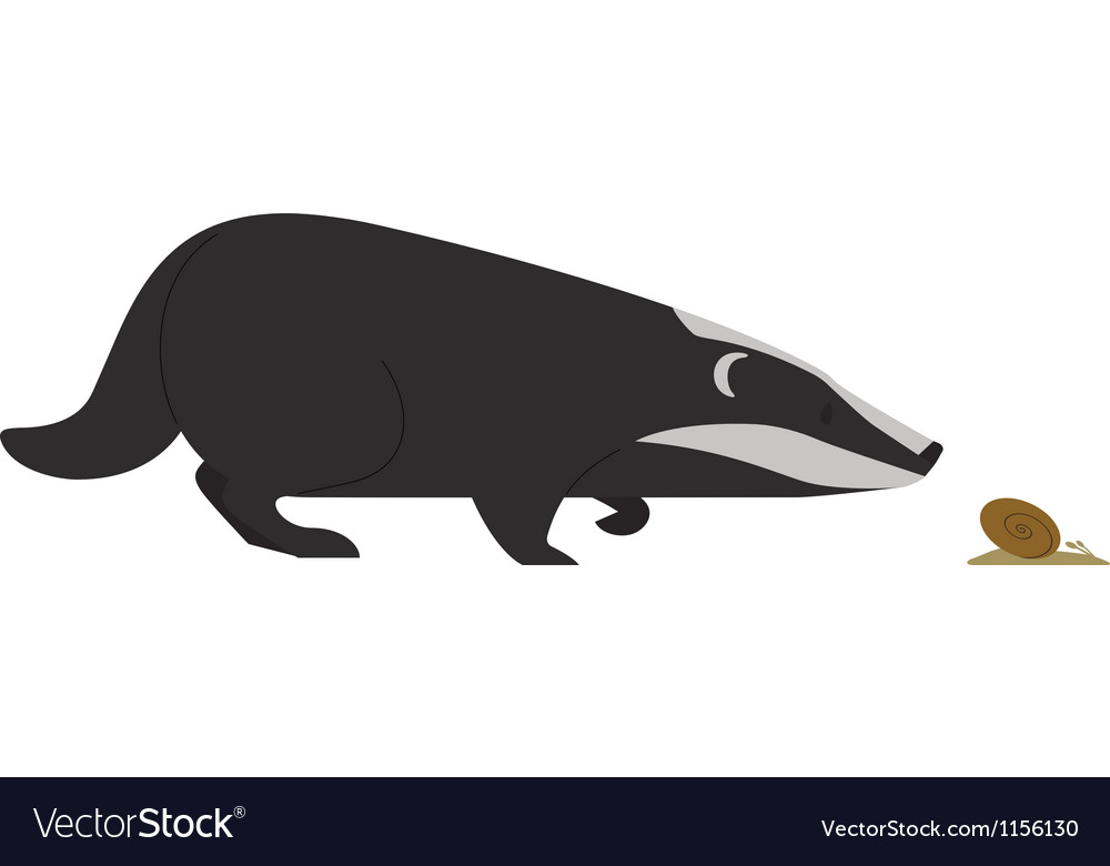 Hunting badger vector | Price: 1 Credit (USD $1)