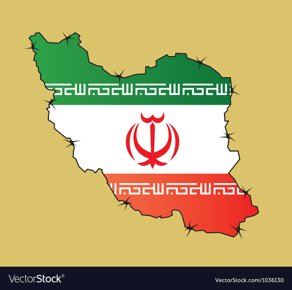 Iran map flag vector | Price: 1 Credit (USD $1)