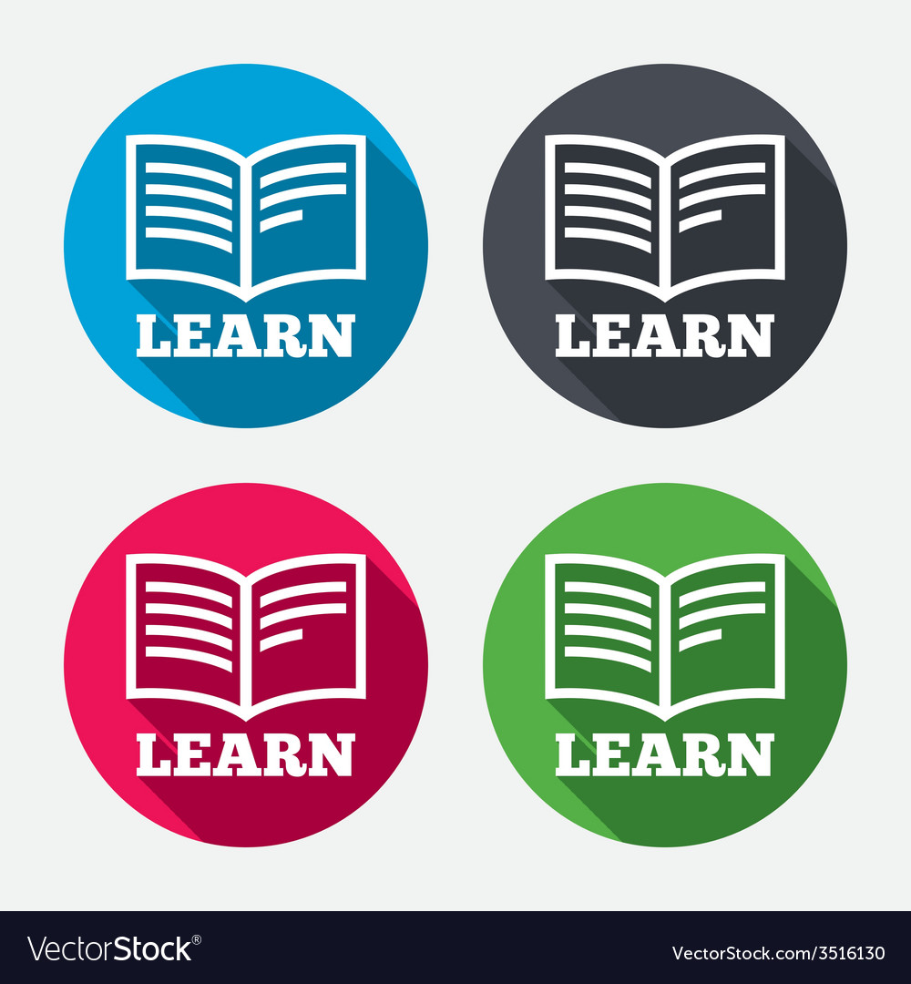 Learn book sign icon education symbol vector | Price: 1 Credit (USD $1)