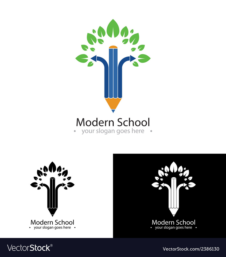 Modern school logo vector | Price: 1 Credit (USD $1)
