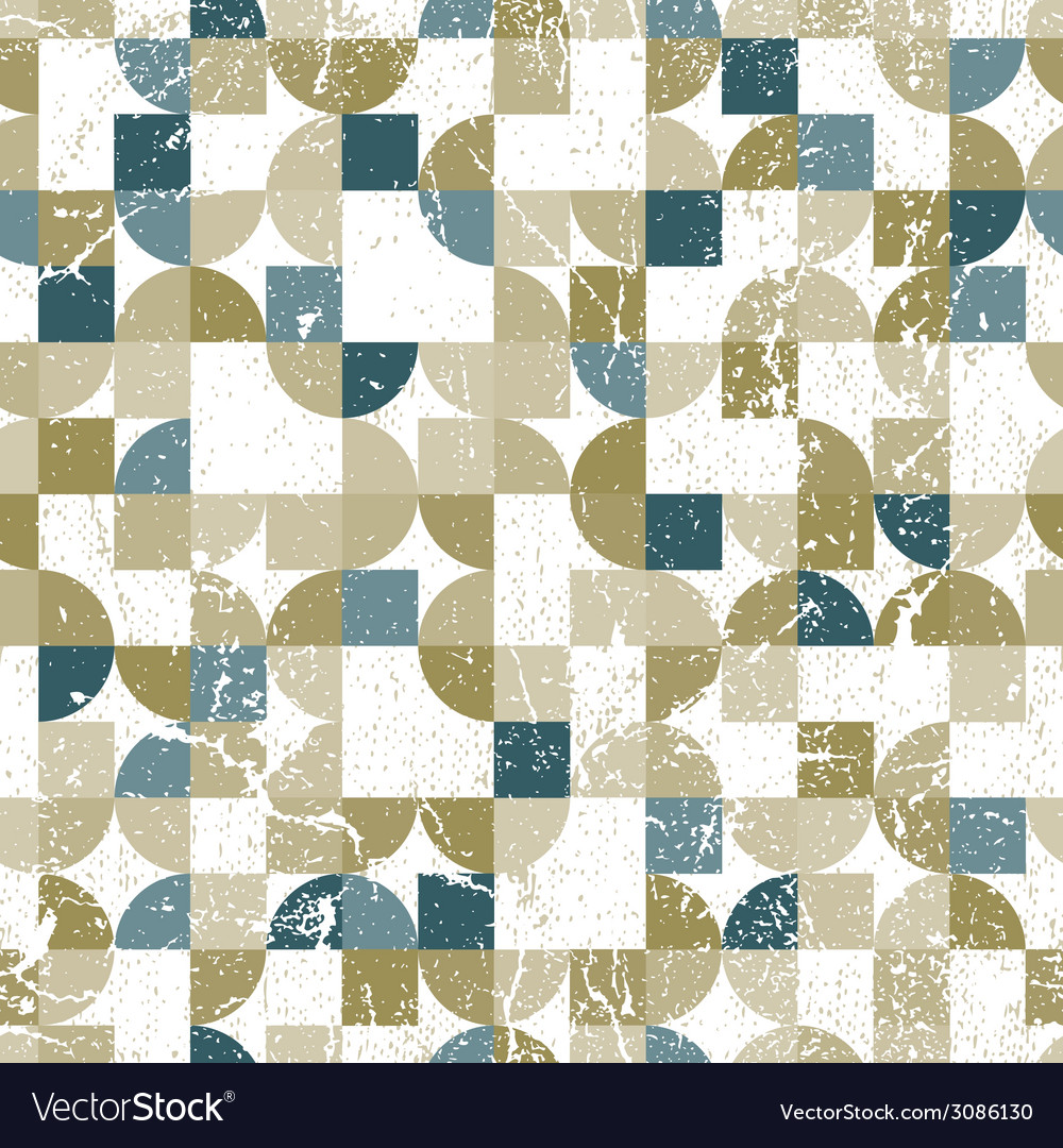Retro seamless pattern with seamless messy texture vector | Price: 1 Credit (USD $1)