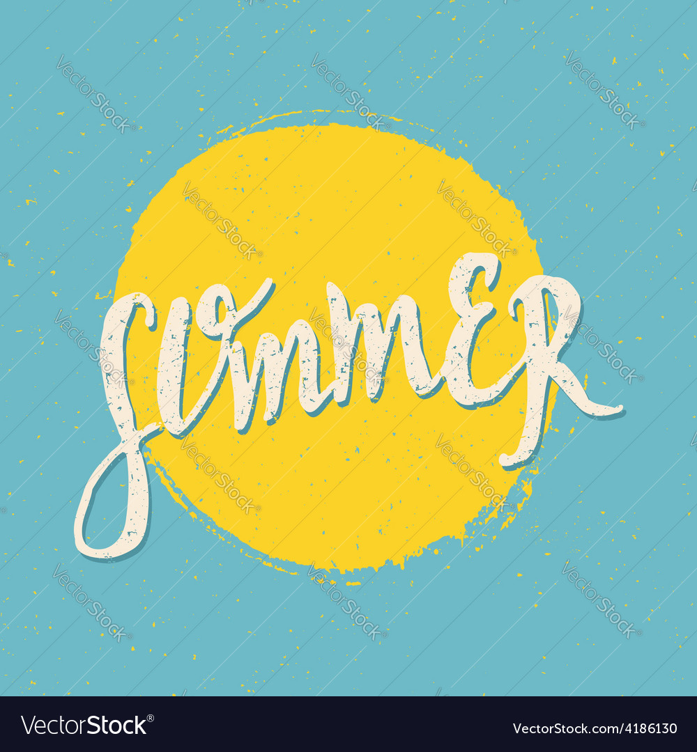 Retro style summer design greeting card vector | Price: 1 Credit (USD $1)