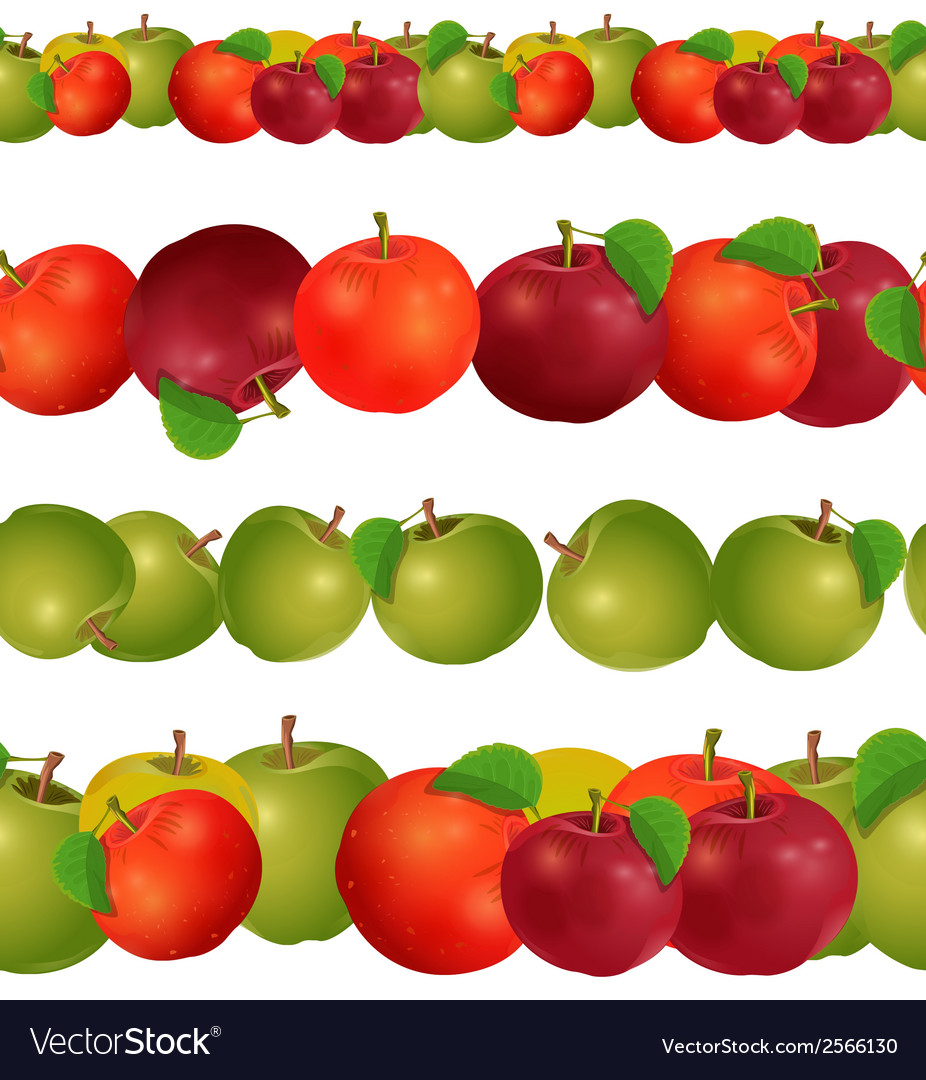 Seamless border of apples seamless border of vector | Price: 1 Credit (USD $1)