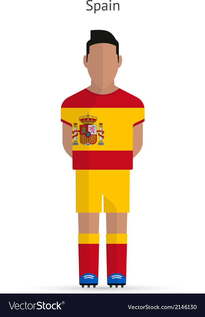 Spain football player soccer uniform vector | Price: 1 Credit (USD $1)