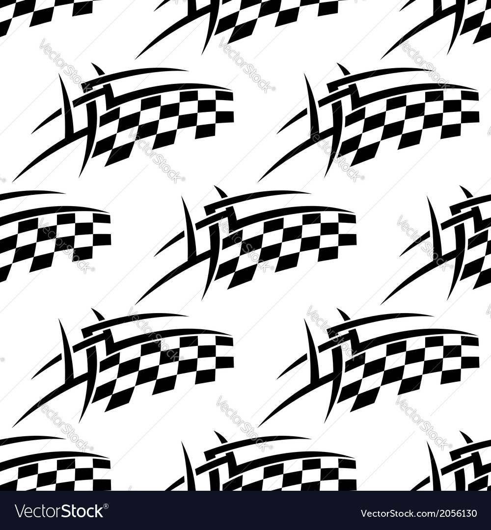 Stylized seamless pattern of a checkered flag vector | Price: 1 Credit (USD $1)