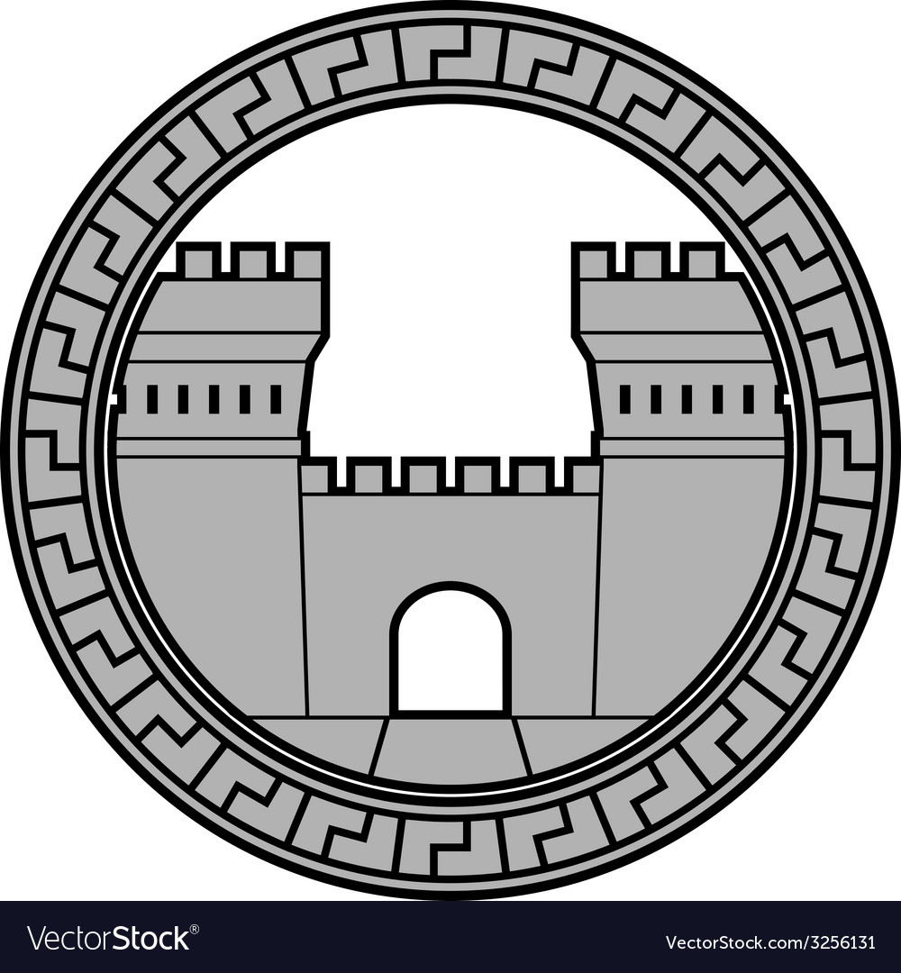 Ancient fortress vector | Price: 1 Credit (USD $1)