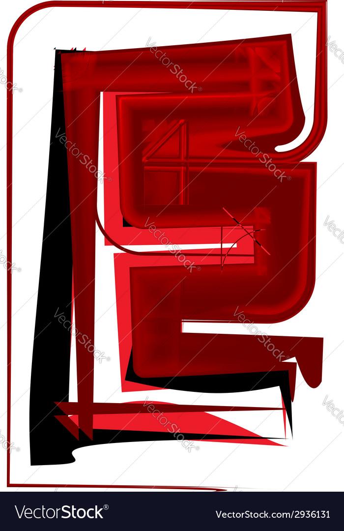 Artistic font letter e vector   Price: 1 Credit (USD $1)