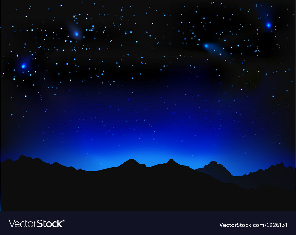 Beautiful night space landscape vector | Price: 1 Credit (USD $1)