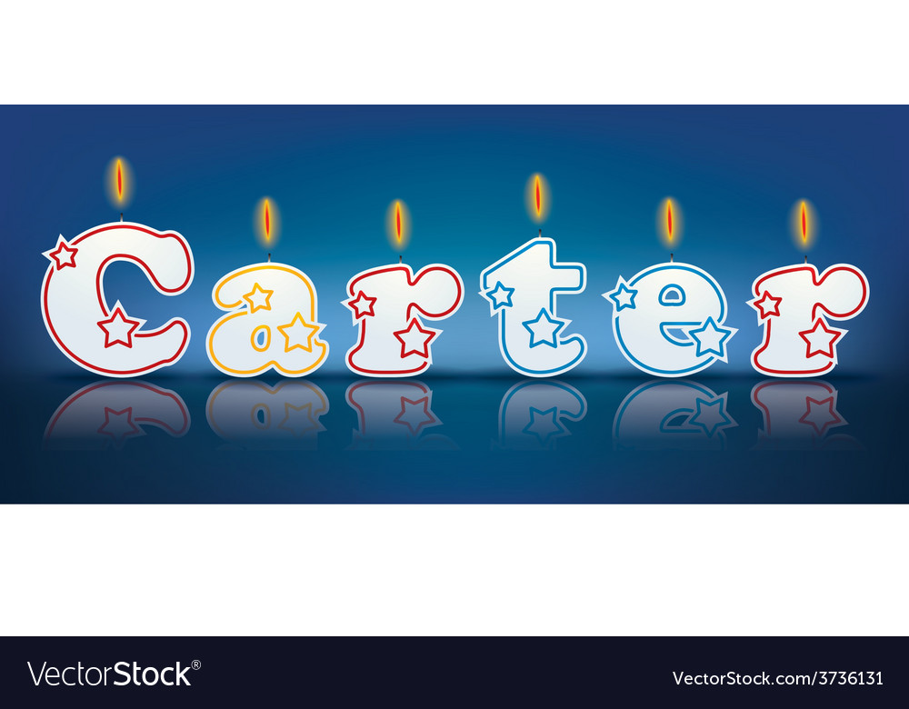 Carter written with burning candles vector | Price: 1 Credit (USD $1)