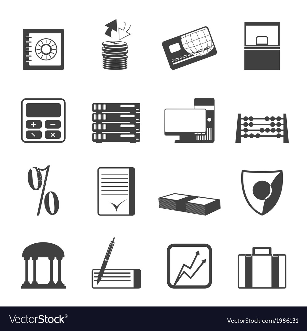 Finance and office icons vector | Price: 1 Credit (USD $1)