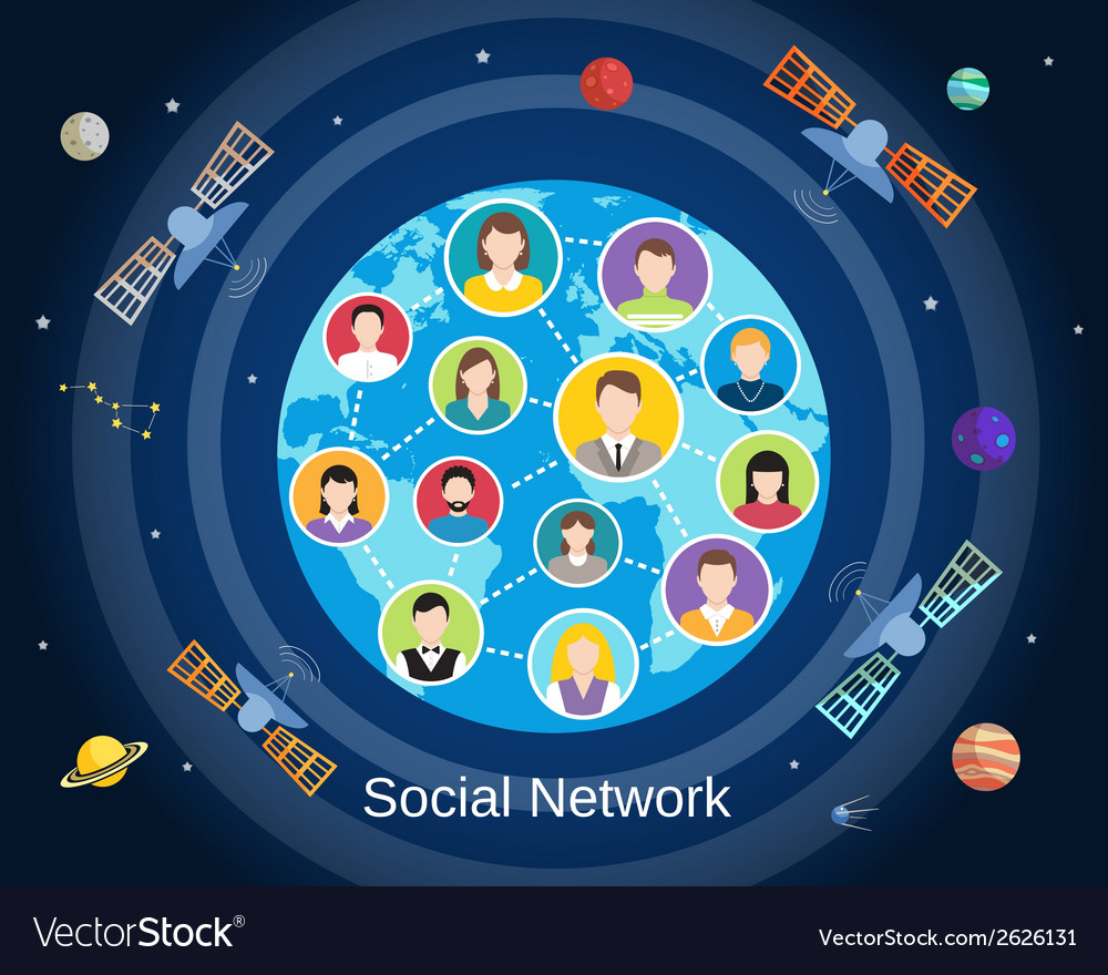 Global social network concept vector | Price: 1 Credit (USD $1)