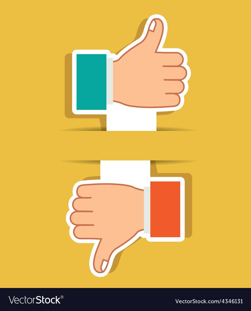 Hands gesture design vector | Price: 1 Credit (USD $1)