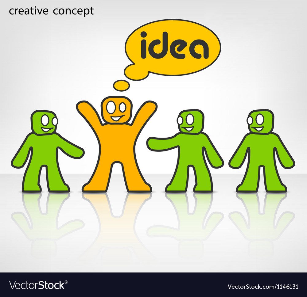 Man idea vector | Price: 1 Credit (USD $1)