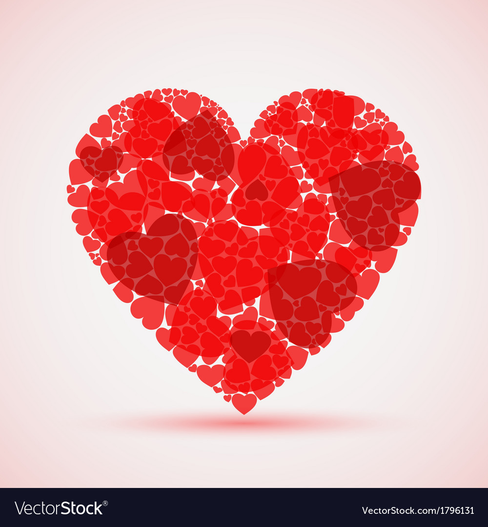 Valentine abstract red mosaic heart vector | Price: 1 Credit (USD $1)