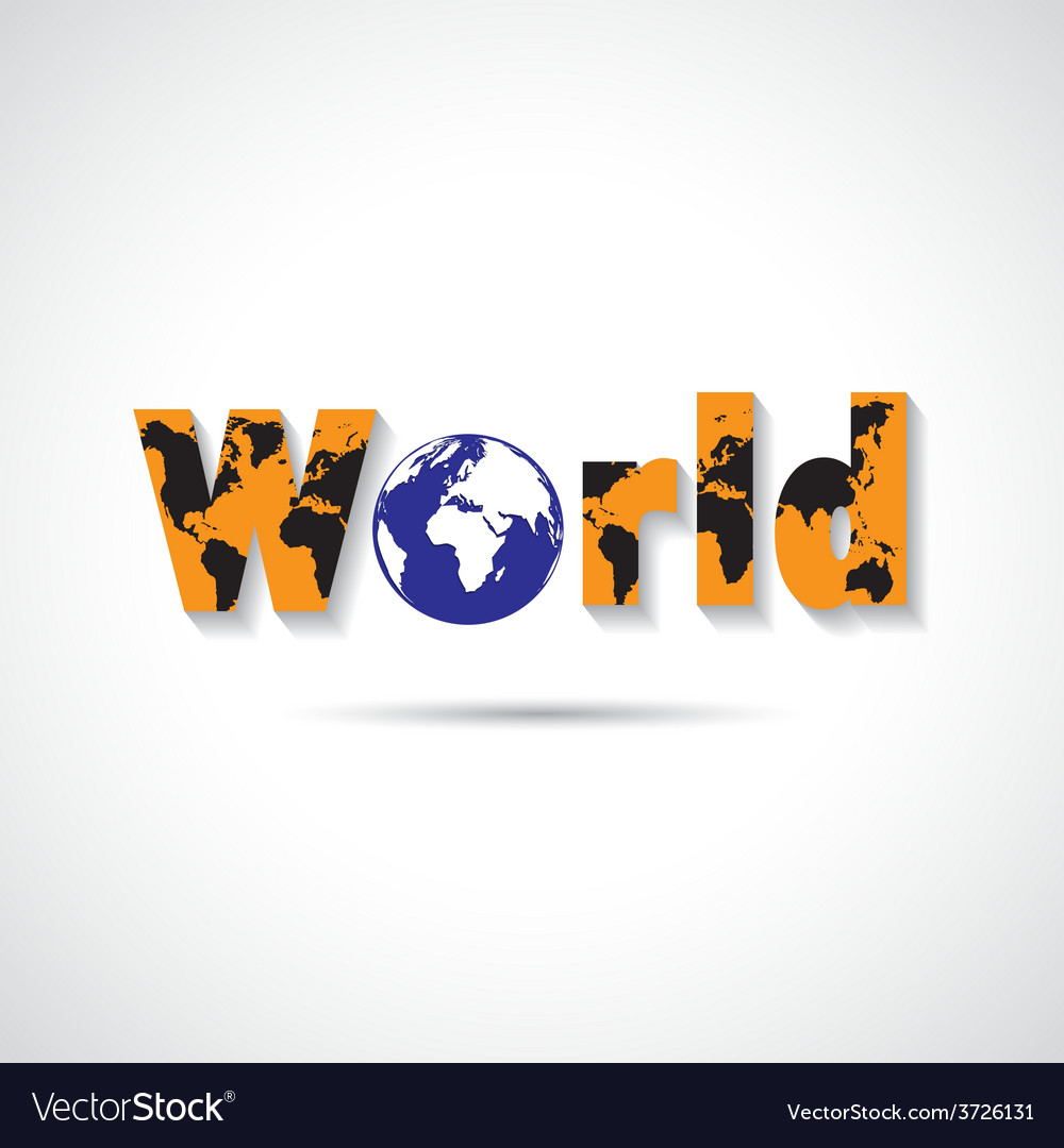 World maps symbol vector | Price: 1 Credit (USD $1)