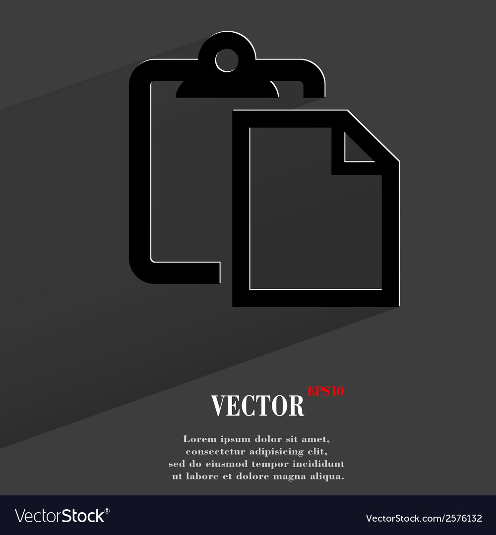 Blank paper flat modern web button with long vector | Price: 1 Credit (USD $1)