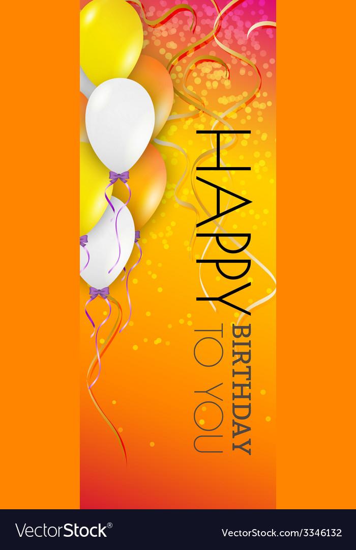 Happy birthday background vector | Price: 1 Credit (USD $1)
