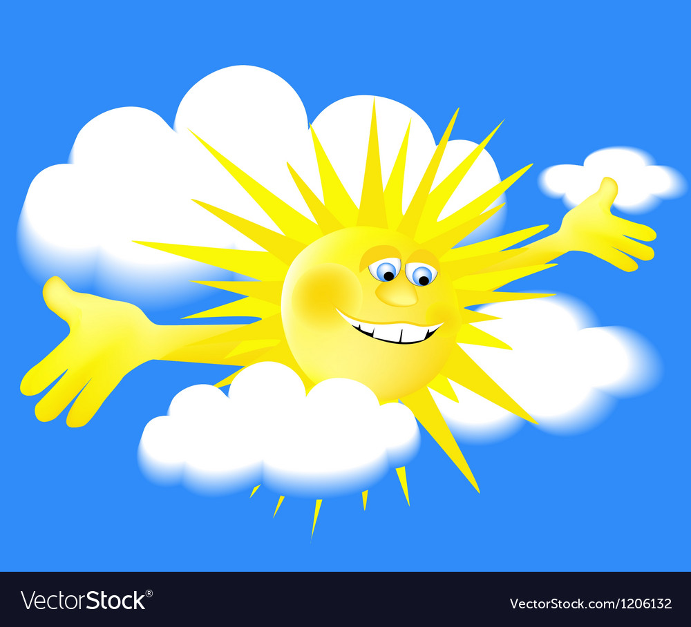 Holiday sun vector | Price: 1 Credit (USD $1)