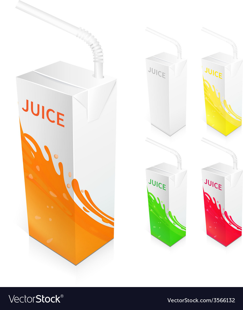 Juice box package vector   Price: 1 Credit (USD $1)