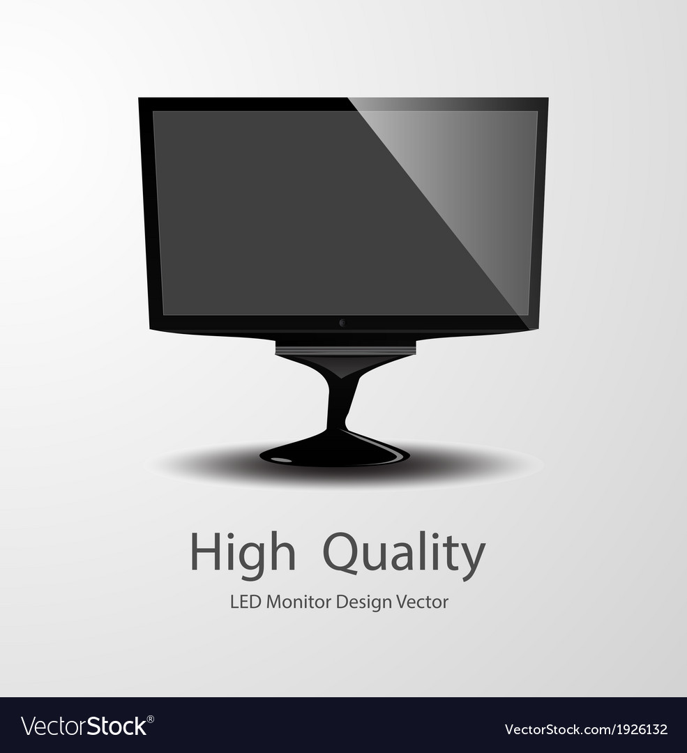 Led monitor design vector | Price: 1 Credit (USD $1)