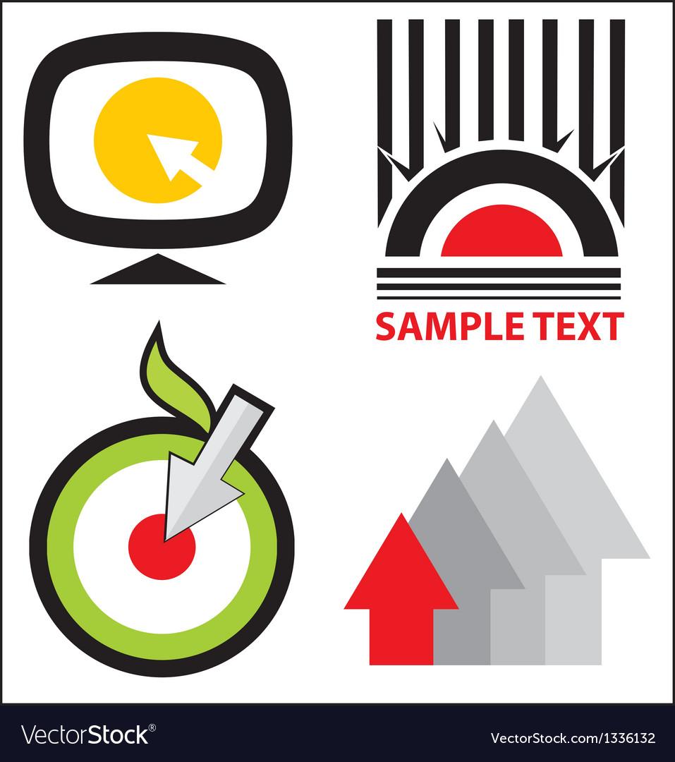 Logo templates set vector   Price: 1 Credit (USD $1)