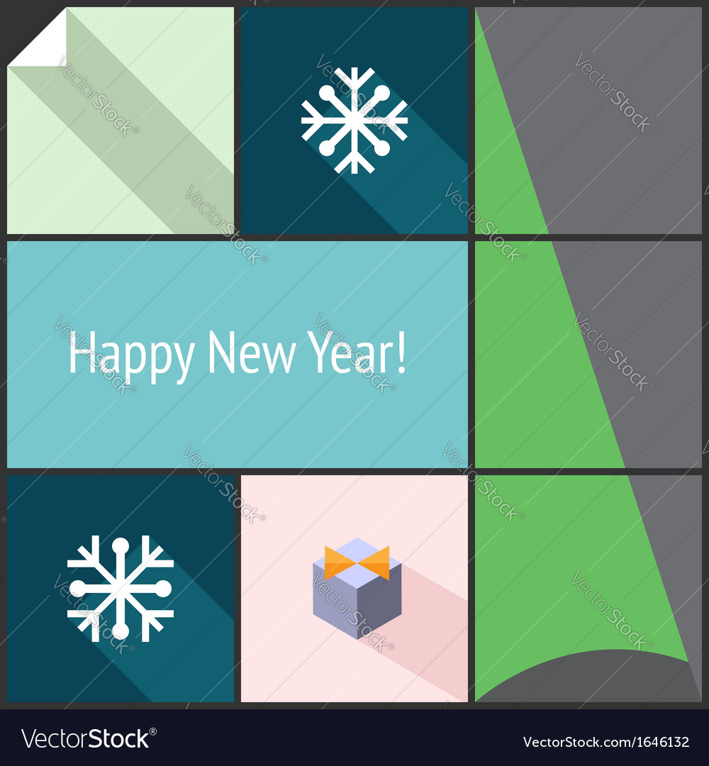 New year flat interface vector | Price: 1 Credit (USD $1)