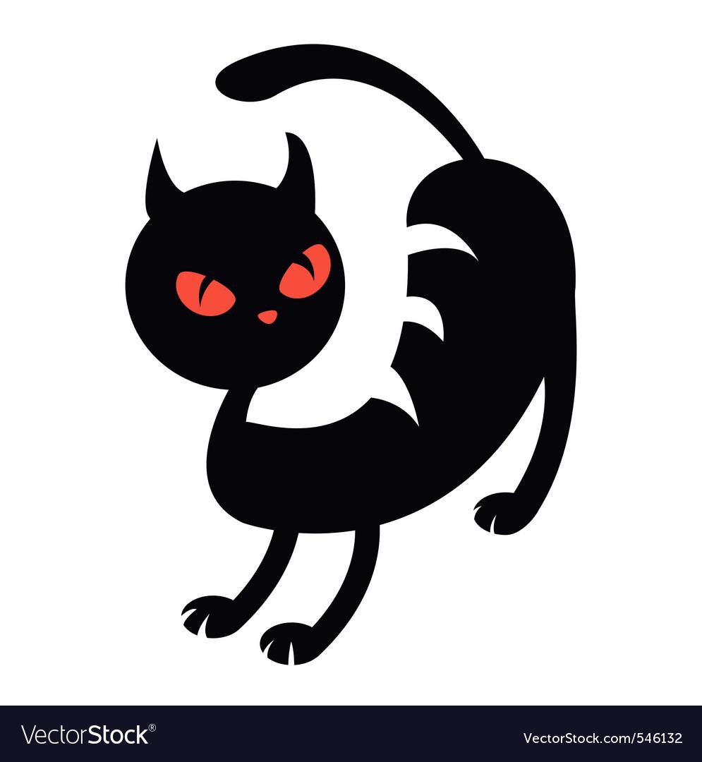 Illustration of a black cat vector | Price: 1 Credit (USD $1)