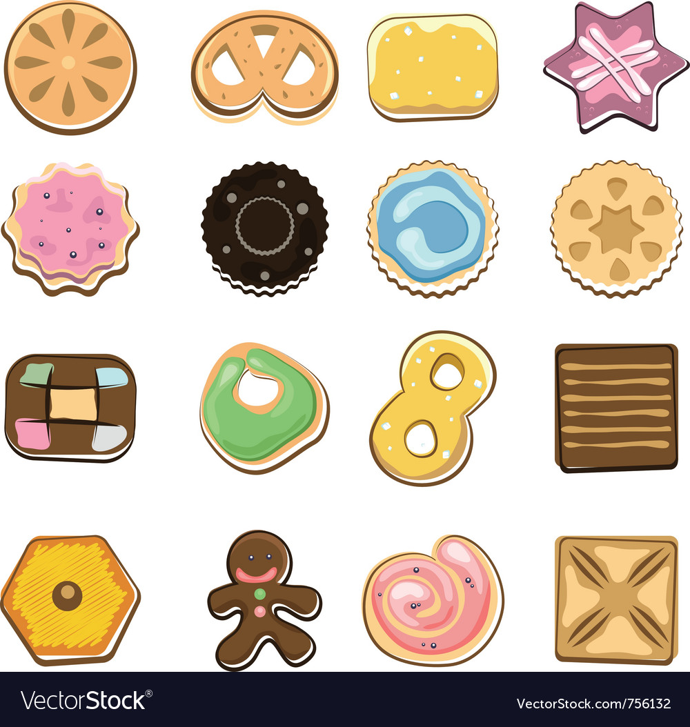 Sweet doodle cookies vector | Price: 3 Credit (USD $3)