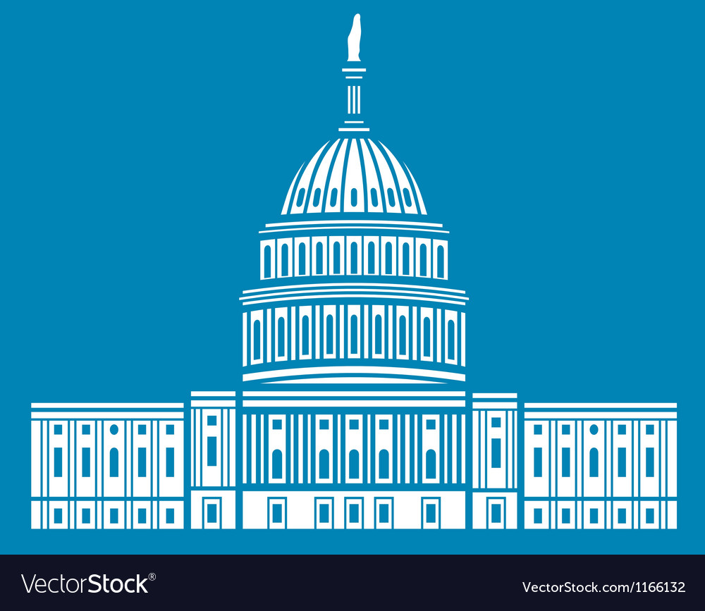 United states capitol hill vector | Price: 1 Credit (USD $1)