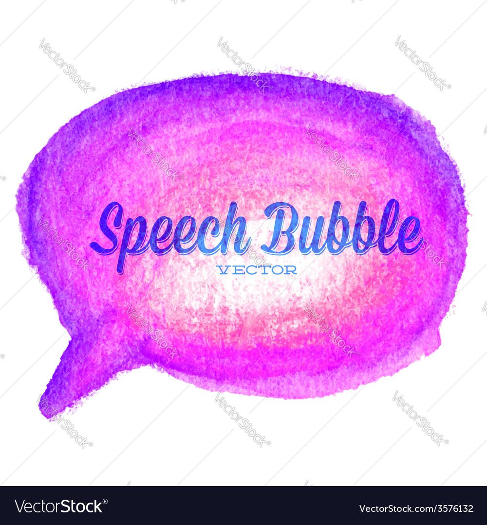 Watercolor drawn purple speech bubble vector   Price: 1 Credit (USD $1)
