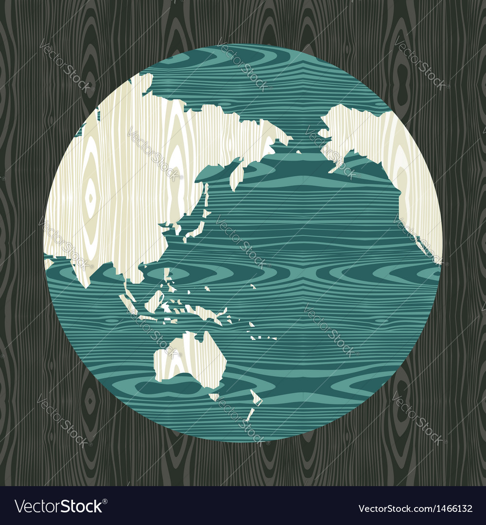 Wooden world shape concept vector | Price: 1 Credit (USD $1)