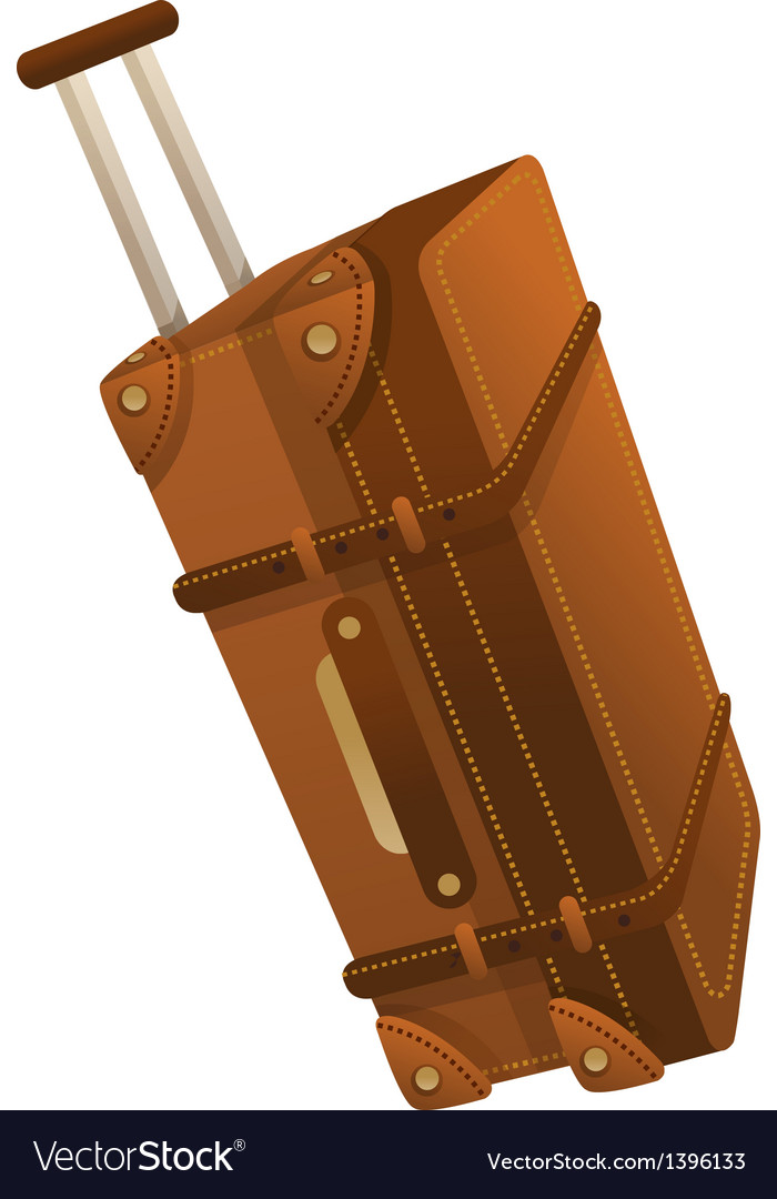 A traveling bag is placed vector | Price: 1 Credit (USD $1)