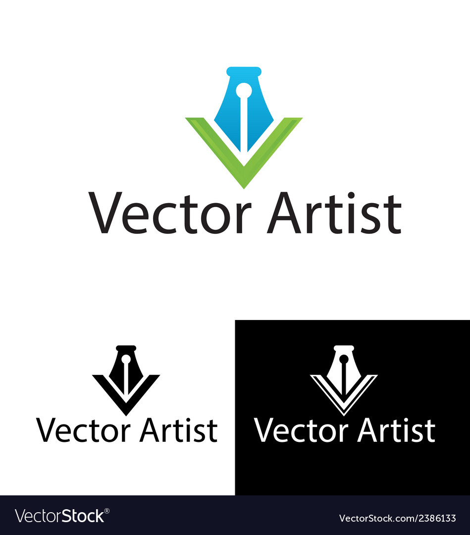 Artist logo template vector | Price: 1 Credit (USD $1)