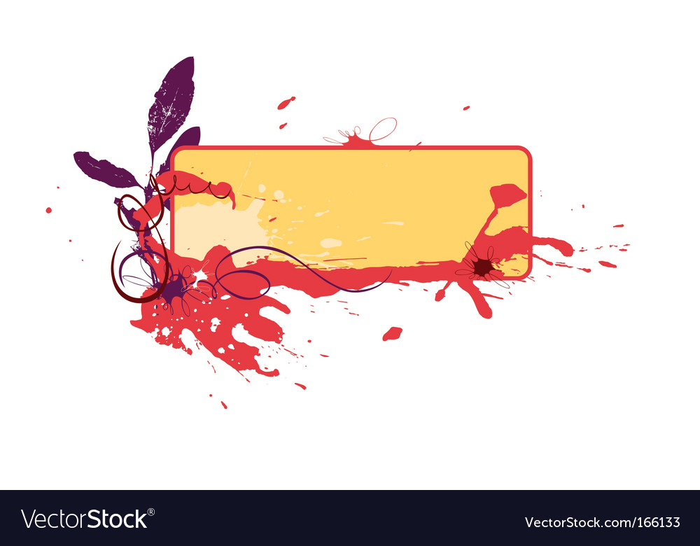 Blot vignette vector | Price: 1 Credit (USD $1)