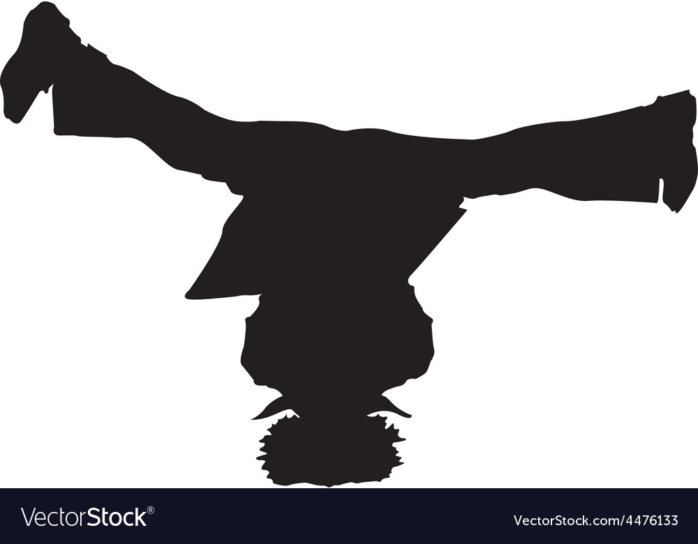 Breakdance silhouette vector | Price: 1 Credit (USD $1)