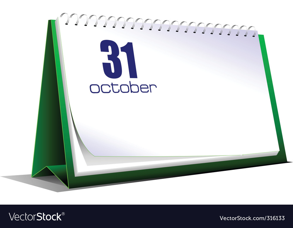 Desk calendar vector | Price: 1 Credit (USD $1)