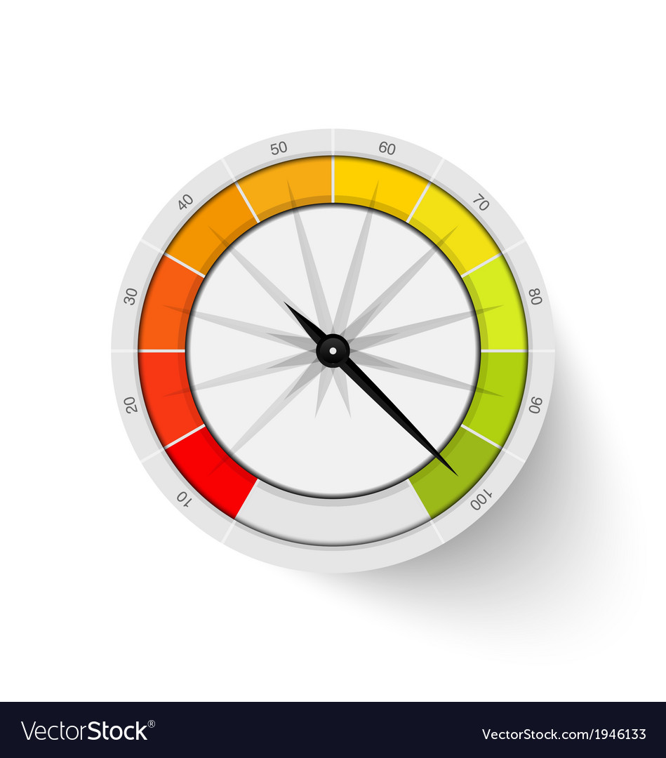 Percentage ranking gauge vector | Price: 1 Credit (USD $1)