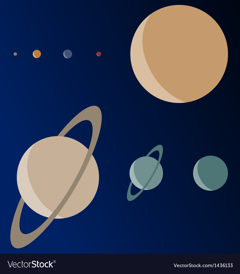 Real scale planets vector | Price: 1 Credit (USD $1)