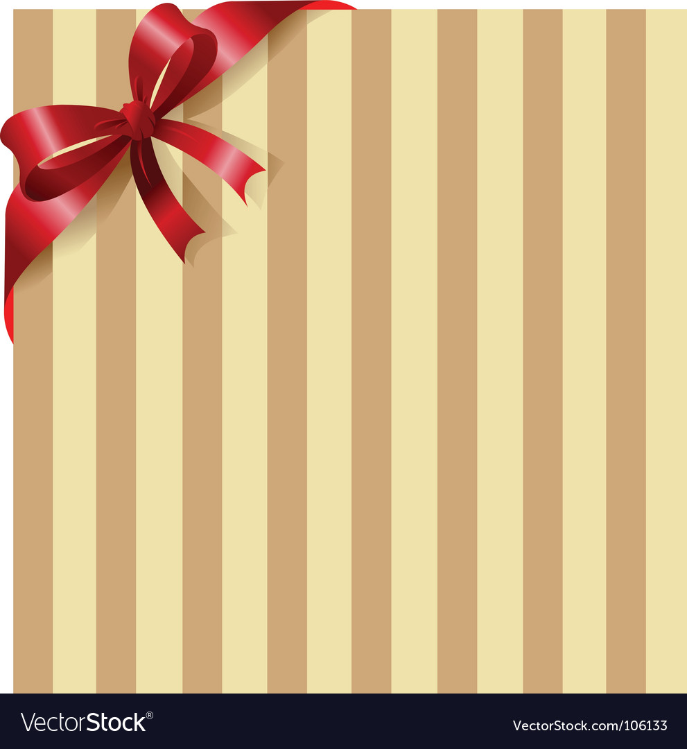 Red ribbon on stripe background vector | Price: 1 Credit (USD $1)